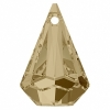 Swarovski Drop 6022 Raindrop 33mm Golden Shadow Crystal